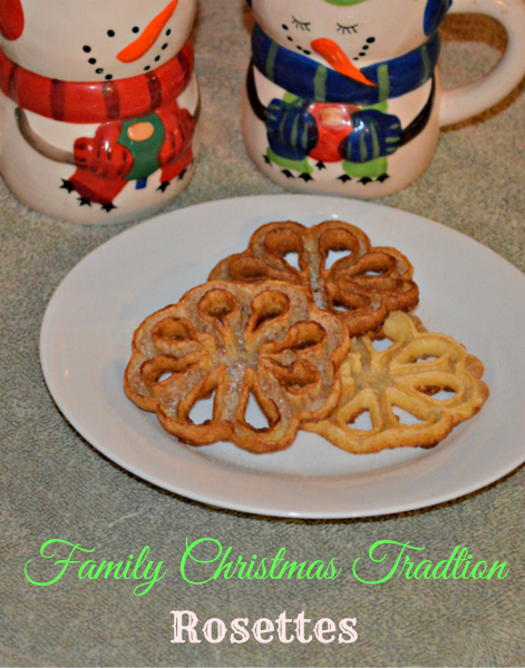 Family Christmas Tradition Rosettes