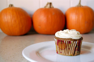 Dinner with Danielle Pumpkin Cupcake with Maple Cream Cheese Frosting 29 Pumpkin Recipes for the Fall