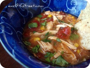 Slow Cooker Chicken Tortilla Soup 300x225 Crockpot Meals