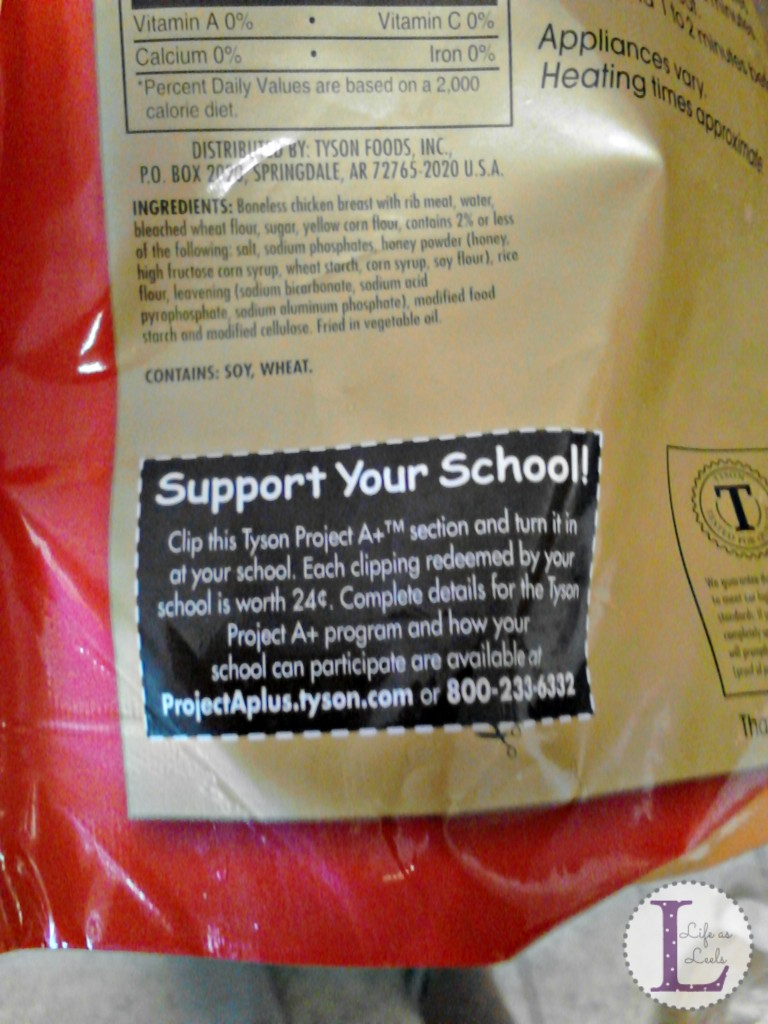 #ad Support Your School Tag on bag