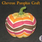 Chevron Pumpkin Craft