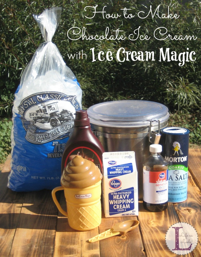 How to Make Chocolate Ice Cream with Ice Cream Magic #sponsored
