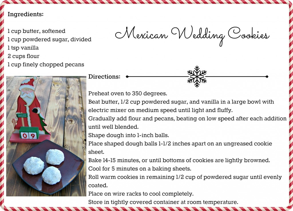 Mexican Wedding Cookies #Recipe Card