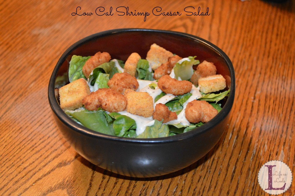Low Cal Shrimp Caeser Salad #Recipe