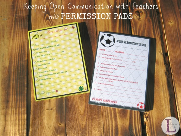 Keeping Open Communication with Teachers with Permission Pads #sponsored