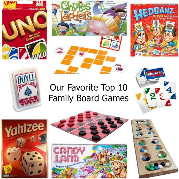 Our Favorite Top 10 Family Board Games