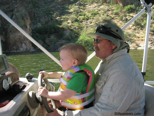 Boating and Fishing with Papa #FamilyMobile #shop #cbias