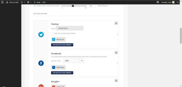 Configure your Twitter handle with your social media share plug in