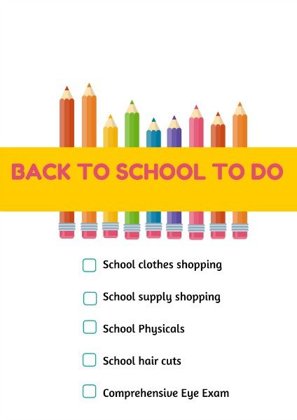 Back to School To Do Printable