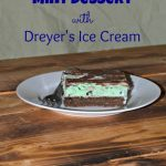 Double Chocolate Mint Dessert with Dreyer's Ice Cream