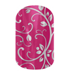 Silver Floral on Magenta