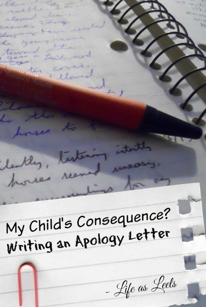 My Child's Consequence Writing an Apology Letter