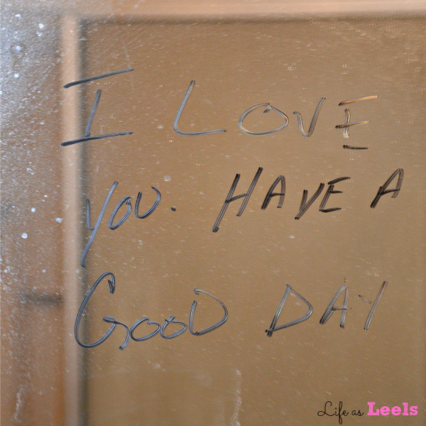Leave them something to start their day off thinking of you #YoursandMine #ad #cbias