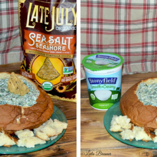 Spinach Pest Dip in a Bread Bowl