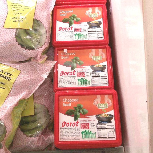 Dorot pre-portioned frozen garlic and herbs helps with menu planning for busy parents.