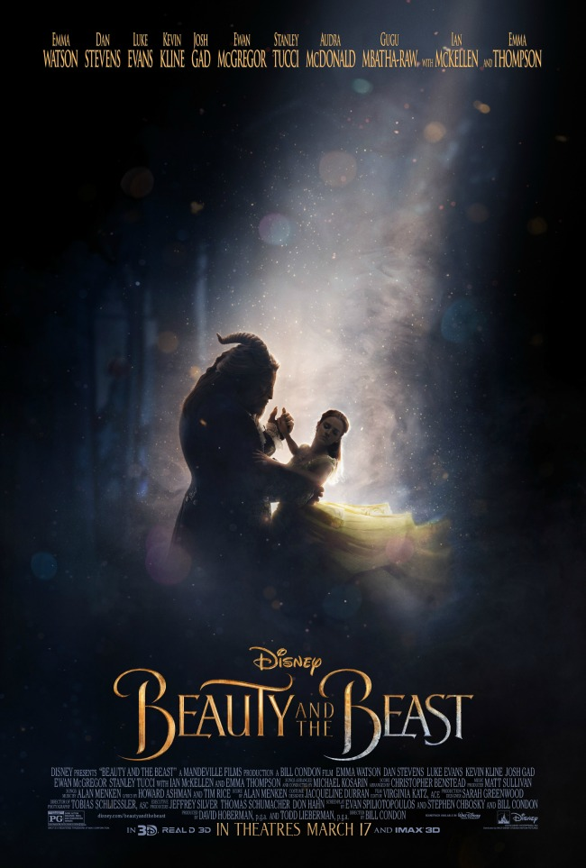Disney Beauty and the Beast, coming to theaters 3/17/17