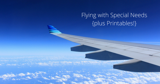 Flying with Special Needs {plus Printables!}